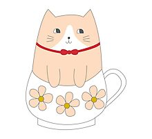 TEACUP KITTY Photographic Print