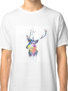 Cool awesome deer head colorful vibrant watercolors  Classic T-Shirt