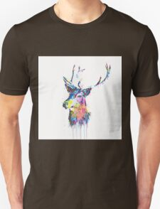 Cool awesome deer head colorful vibrant watercolors  T-Shirt