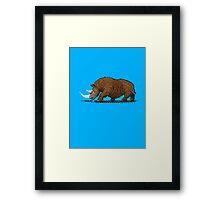 Prehistoric Pixels - Woolly Rhino  Framed Print