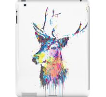 Cool awesome deer head colorful vibrant watercolors  iPad Case/Skin