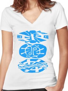 Alien Tribal Marks Women's Fitted V-Neck T-Shirt