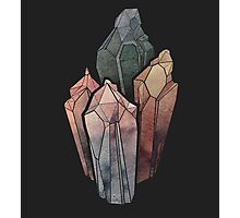 Dark Watercolor Crystals Photographic Print