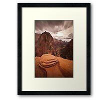 Angels Landing Zion National Park Framed Print