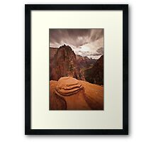 Angels Landing Zion National Park Framed Print
