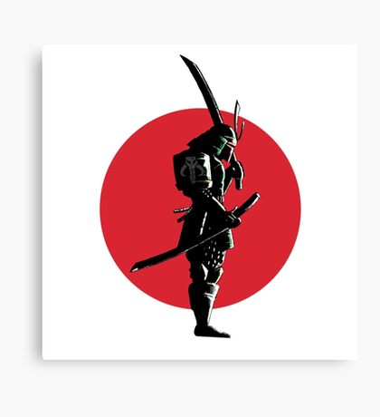 Bounty Hunter Samurai Canvas Print