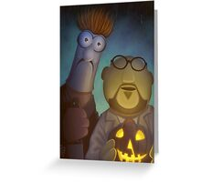 Muppet Maniacs - Beaker Myers & Dr. Honeyloomis Greeting Card