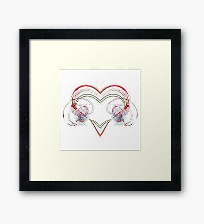 Stylized Heart Framed Print