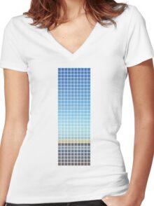 Horizon Women's Fitted V-Neck T-Shirt