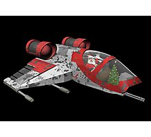 Santa Claus Comes From Outer Space Photographic Print