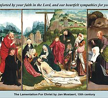 Jan Mostaert's The Lamentation For Christ by Harveylee