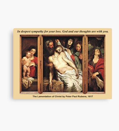 Peter Paul Rubens' The Lamentation of Christ Canvas Print