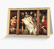 Peter Paul Rubens' The Lamentation of Christ Greeting Card