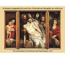 Peter Paul Rubens' The Lamentation of Christ Photographic Print