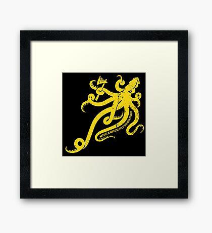 Asha Kraken Framed Print