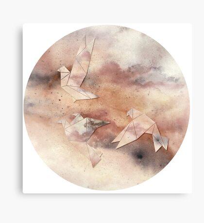 Pastel Origami Birds Canvas Print