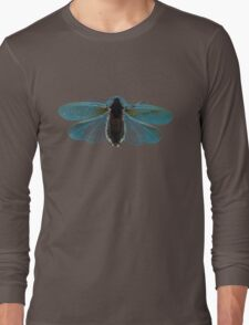 Blue Moth Long Sleeve T-Shirt