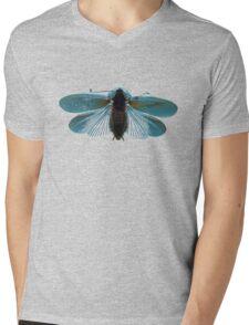 Blue Moth Mens V-Neck T-Shirt