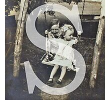 Retro Alphabet S Photographic Print