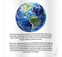 Piece of Pale Blue Dot Quote  Poster