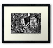 Pops Tractor. Framed Print