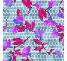 Watercolour Spotty Floral  Photographic Print