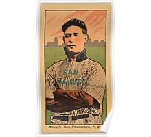 Benjamin K Edwards Collection Willis San Francisco Team baseball card portrait Poster