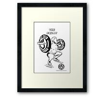 The squat !!! Iron grip training  Framed Print
