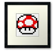 PIXEL - Super mushroom Framed Print