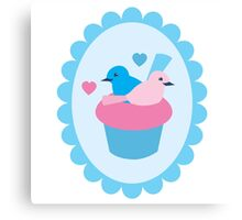 Blue wren cupcakes Canvas Print