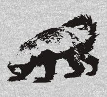Honey Badger (black) One Piece - Long Sleeve