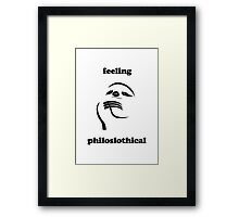 Feeling Philoslothical Framed Print