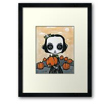 Scarlett pumpkin patch Framed Print