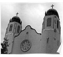 Big Church Steeples-B&W Poster