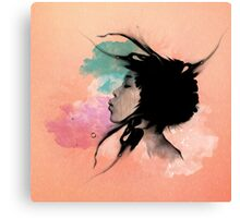 Psychedelic Blow Japanese Girl Canvas Print
