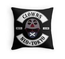 The Clown Motorcycle Club - Neo Tokyo (Akira) Throw Pillow