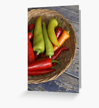 Chillies Greeting Card