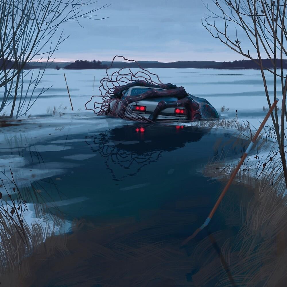 Things From The Flood - A Cold Hug by Simon Stålenhag