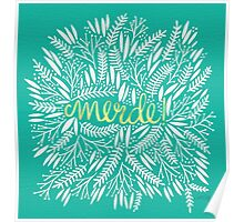 Pardon My French – Turquoise & Gold Poster