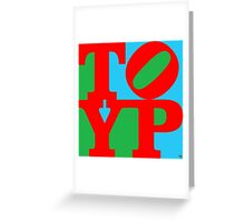 TYPO Greeting Card