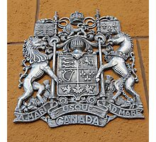 Metal Canada Coat of Arms Photographic Print