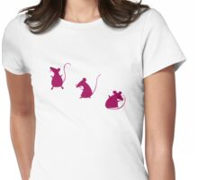Mouse Party (T-shirt) Womens Fitted T-Shirt
