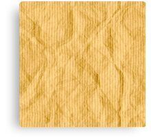 Brown wrapping paper Canvas Print
