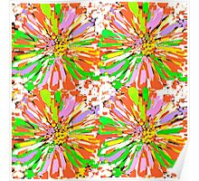 Dahlia Color burst  Flower Abstract Poster