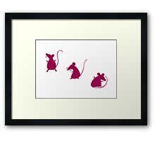 Mouse Party Framed Print