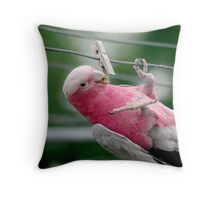 Clothesline Fun Throw Pillow