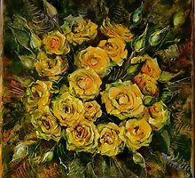 Release (Yellow Roses) by Natalia Lvova