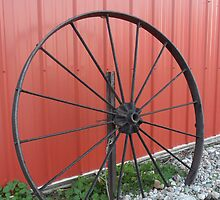 Vintage Wagon Wheel by Melissa Delaney
