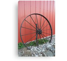 Vintage Wagon Wheel Canvas Print