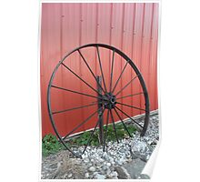 Vintage Wagon Wheel Poster
